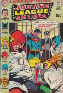 "My first issue of ""Justice League of America."" Wait. Where's Wonder Woman?"