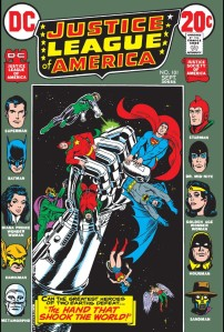 Dang, that is one iron grip: 'Justice League of America' No. 101.