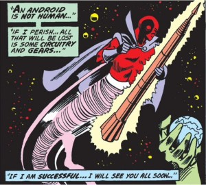 Red Tornado makes the ultimate sacrifice.