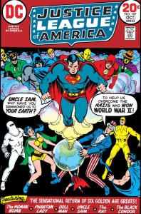 The Justice League and the Justice Society meet the heroes of Earth X