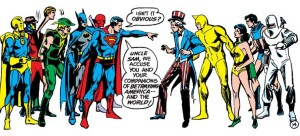 Superman turns on Uncle Sam.