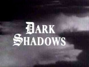 The opening credits shot to 'Dark Shadows'
