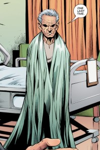 Nabu would not approve: Dr. Fate models the latest in hospital fashion.
