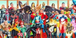 The Justice Society of America lineup circa 2005: Another Alex Ross masterpiece.