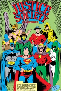 Together for the first time: The Justice Society of America.