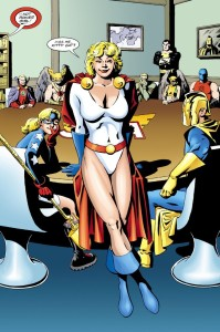 Exit: Black Canary. Enter: Power Girl.