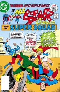 "Vandal Savage takes on the JSA in ""All-Star Comics"" No. 65."