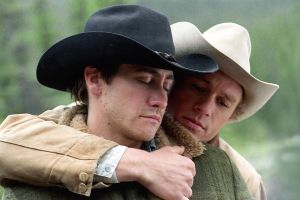 A moment of tenderness on 'Brokeback Mountain.'