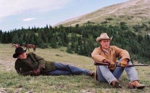 Jack & Ennis, together, on 'Brokeback Mountain.'