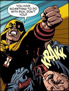 Hourman has no time for Degaton.