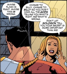"Captain Marvel uses the old line 'It's not you, it's the gods"" when dumping Stargirl. We've all been there."