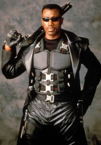 Perfect casting: Wesley Snipes as Blade.