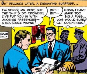 Clark Kent encounters booking trouble.