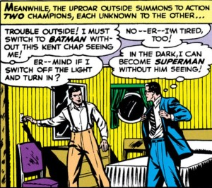 Bruce and Clark try to hide their secrets from each other.