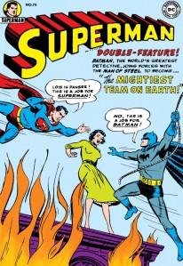 Superman No. 76, with special guest Batman.