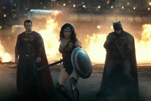 Superman, Wonder Woman and Batman united.