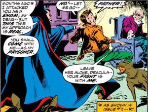 Dracula kidnaps Edith