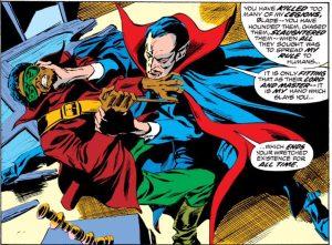 Blade fights Dracula.