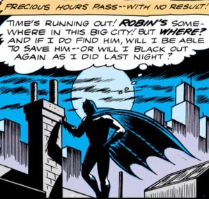 Batman struggles with doubt.