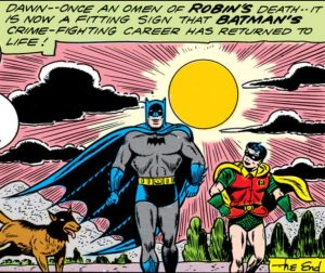 Batman, Robin and Bat-Hound.