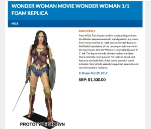 Wonder Woman foam figure.