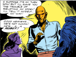 Robotman - wearing clothes. He would get over that.