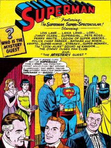 It is not a party until the Jimmy Olsen Fan Club arrives.