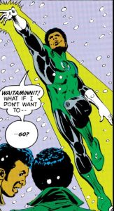 John Stewart flies into action.