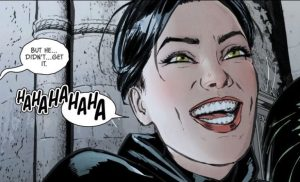 Catwoman laughs.