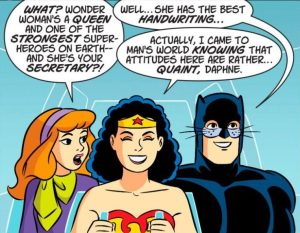 Daphne quizzes Wonder Woman.