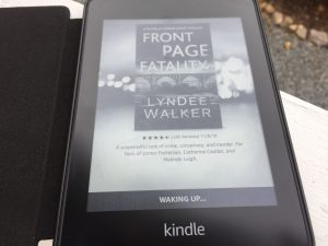 The Kindle wakes up.