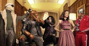 The gang's all here: Negative Man, Robotman, Crazy Jane, Elasti-Woman ...and Cyborg? (Photo: DC Universe)