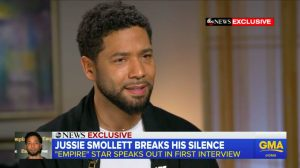 Jussie Smollett on ABC's 'Good Morning, America.'