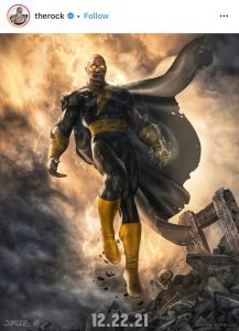 "Promotional poster for ""Black Adam"""