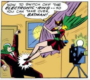 Bat-Girl to the Bat-rescue.
